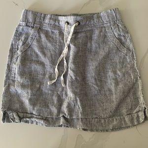 Athleta striped Linen Skirt